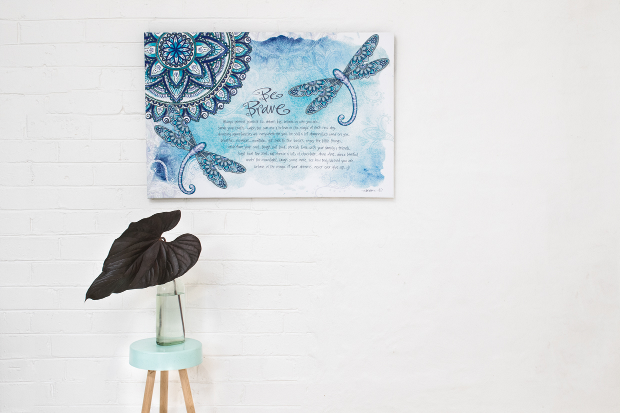 Zen Dragonfly Stretch Canvas Extra Large